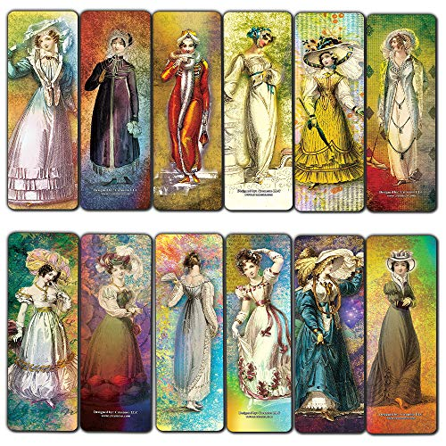 Fashion Plates Bookmark Cards (30-Pack) Ackermann Book Club Page Clipper Set – Stocking Stuffers Gift for Boys, Girls, Men, Women, Teens – Classroom Incentives
