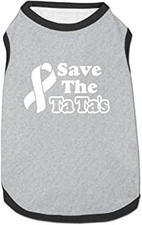Save The Tatas Puppy Dogs Shirts Costume Pets Clothing Warm Vest T-shirt