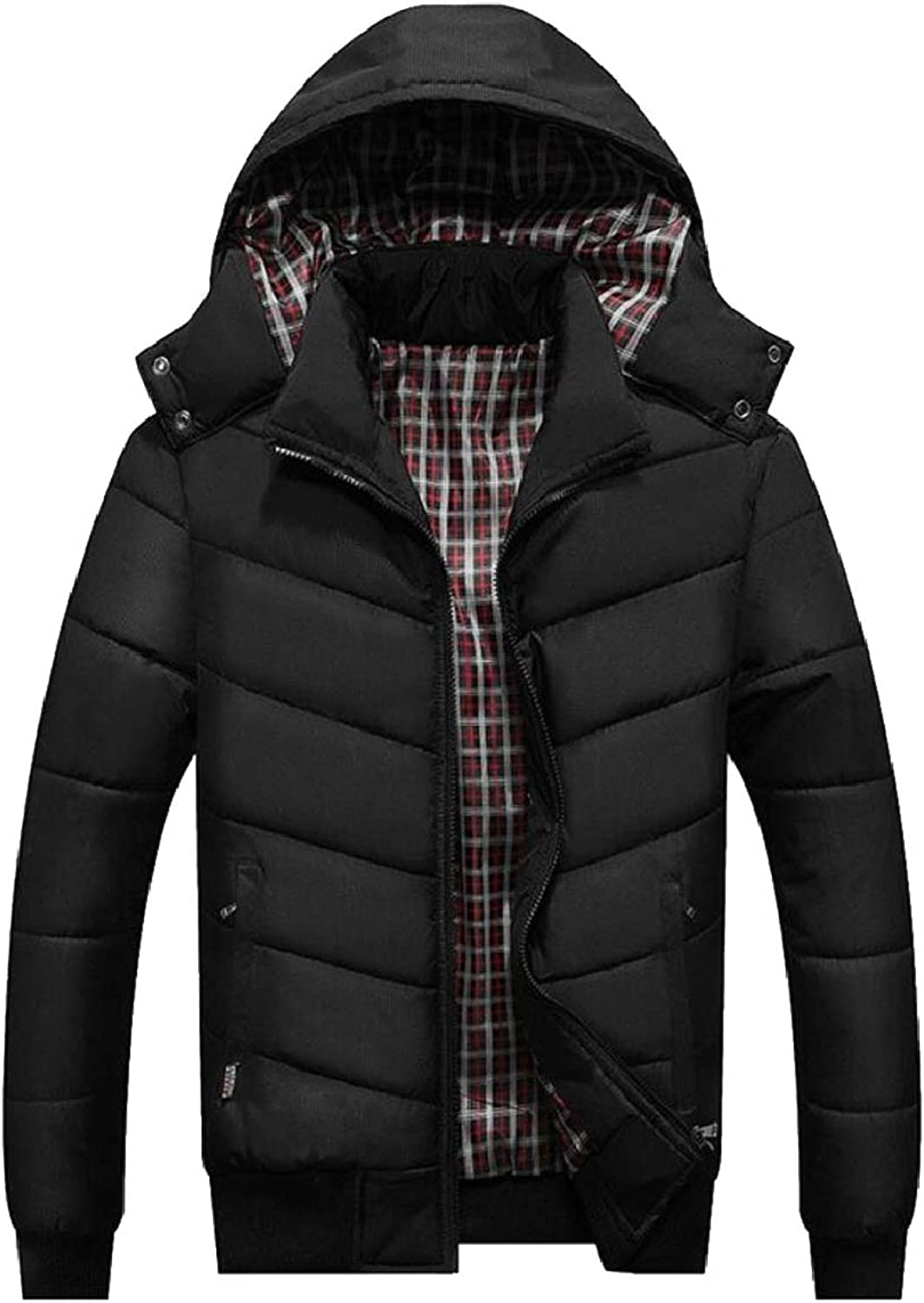 Omniscient Men Fashion Long Sleeve Plus Size Casual Loose Hooded Hooded Hooded Puffer Jacket Coat 2905c9