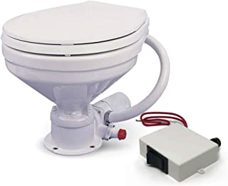Five Oceans TMC Marine Compact Electric Toilet Small Bowl for Boats and Rvs, 12V FO-720-1