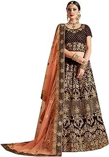 Designer Heavy Embroidered Velvet Wedding Lehenga Choli for Bridal Women Indian Reception dress 7536