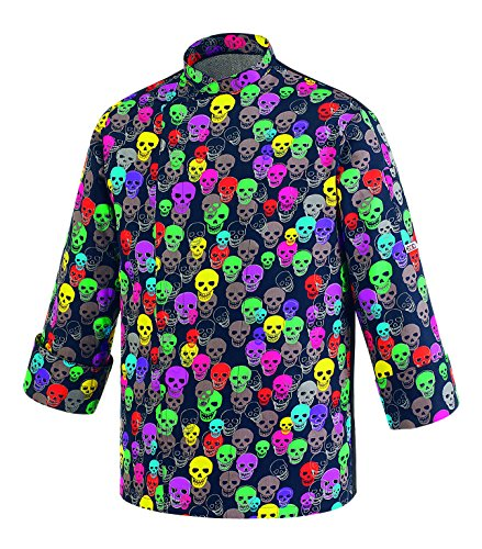 Novaplus Kochjacke Color Skulls (XL=54/56)