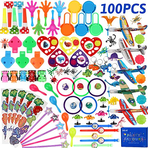 nicknack Pinata Filler Toys 100pcs Party Favor Assortment for Kids Birthday Prizes Box Toy for Classroom Rewards,Treasure Box Prizes,Carnival Prizes