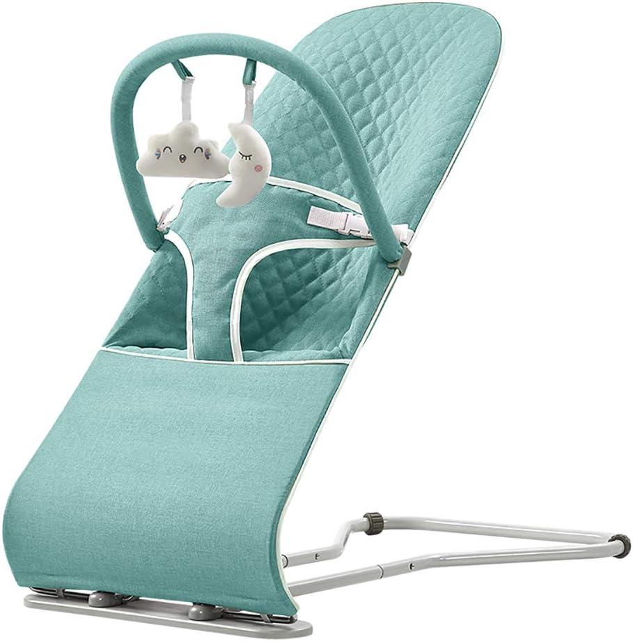 LYXCM Hamacas para bebés, Asiento Hamaca portátil para recién Nacidos con Pliegue Compacto | Balancín ergonómico para bebés con Posiciones de Altura Regulables,Verde
