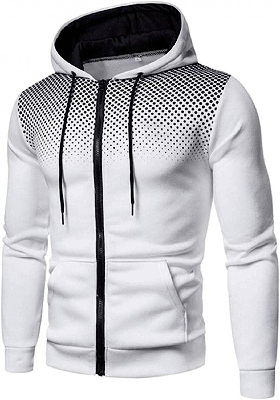 Hoodies for Men Fashion Mens Athletic Sweatshirt Full Zip Long Sleeve Sports Pullover Drawstring Mens Hoodies