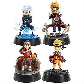 Yangzou 4 Unids 11 Cm Figuras De Acción Modelo De Colección Juguetes Anime Naruto Akatsuki Senju Pain Hatake Kakashi Uzumaki Naruto Q Versión PVC