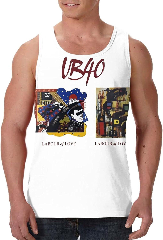 AlexBCody Ub40 Tank Top Man's Summer Fashion Sleeveless Shirt Sport Gym Vest