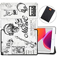 """MAITTAO Case for iPad 10.2 Inch 2019, Microfiber Lining Hard Back Shell with Auto Wake/Sleep, Slim Lightweight Trifold Smart Stand Cover for iPad 7th Generation 10.2"""" 2019,Graffiti Wall 11"""