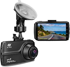 E-ACE Dash Cam With GPS 1080p Full HD Car Dashboard Camera 3.0'' IPS Screen Video Recorder With Night Vision, 170 Angle, WDR, G-Sensor, Loop Recording, Motion Detection Parking Monitoring[Alloy Shell]
