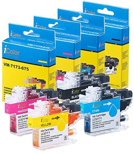iColor Brother Mfc J5730dw: Tintenpatronen ColorPack für Brother (ersetzt LC-3217), BK/C/M/Y (kompatible Druckerpatrone Brother)