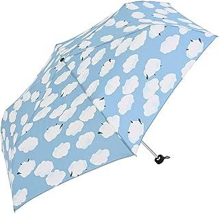 Nifty Colors(ニフティカラーズ) 折りたたみ傘 ひつじ雲ミニ55 サックス