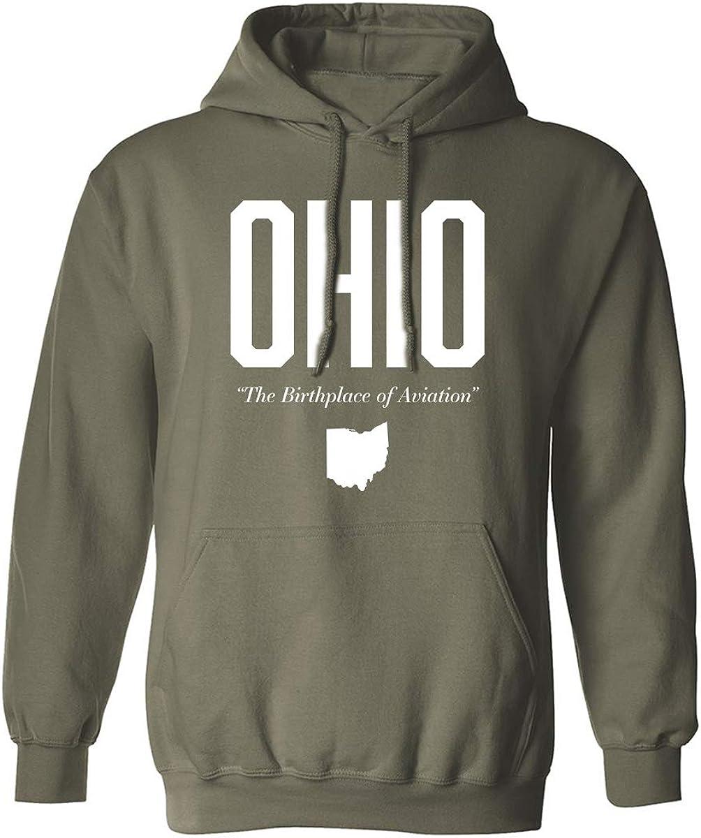 Ohio The Birthplace of Aviation Adult Hooded Sweatshirt