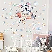 HUIJK sovrum dekorativ björn stjärna flygplan molndekoration självhäftande väggklistermärke barnrum sovrum kreativ tapet d...