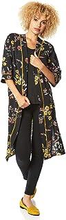 Roman Originals - Chaqueta para mujer con estampado de flores - Chaqueta de manga larga para mujer