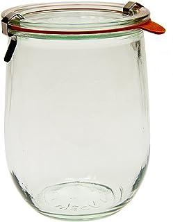 Weck 745 Tulip Jar - 1 Liter, Set of 6 Clear