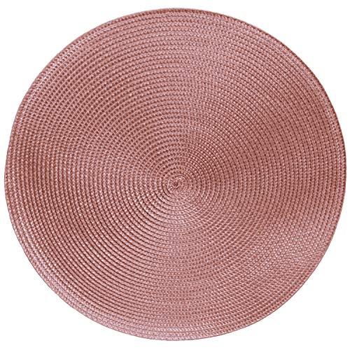 Tischsets Platzsets MARRAKESCH RUND im 4er-Set, Ø 38 cm, pink rosa Beere