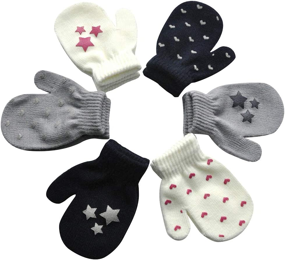 SOIMISS 6 Pairs Challenge New popularity the lowest price Kids Keep Warm Gloves Pri Winter Hand Protection