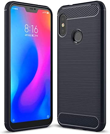 Bracevor Flexible Shockproof TPU Brushed Texture Back Case Cover for Xiaomi Redmi 6 Pro - Black
