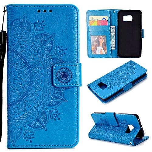 custodia portafoglio samsung s6 SNOW COLOR Cover Galaxy S6 Edge Portafoglio