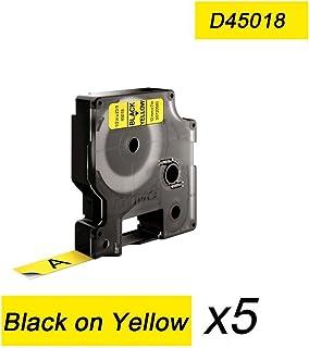 DOREE 5er-Pack kompatibel Dymo 45018 Schwarz auf Gelb 12mmx7m für Label Manager PC LabelManager PnP LabelManager 210D 450D 120P 350D 220P 420P 500TS B01HPDBZV2  Allgemeines Produkt
