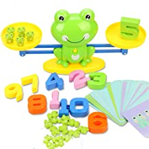 miYou STEM Math Toy Educational Balance Game and Counting Frog Set Gift for School Kids Years 3 4 5 6 7