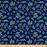 Windham Quilt Fabrics Meadow Whispers Blue Berries Midnight