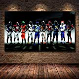 YWOHP Football peintures murales athlète Affiches et Impressions Rugby Toile Peinture Football américain Toile Art Impression décoration de la maison-60x100 cm