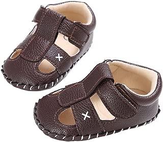 Baby Boy Closed-Toe Beach Sandals Adventure Seeker Anti-Slip Walking Flat Shoes