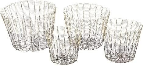 Madison Park Buono Basket Set of 4, Gold