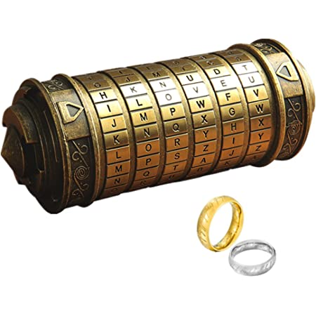 Da Vinci Code Mini Cryptex For Christmas Valentine's Day Most Interesting Birthday Gifts For Boyfriend and Girlfriend Brain Teaser Lock Puzzles