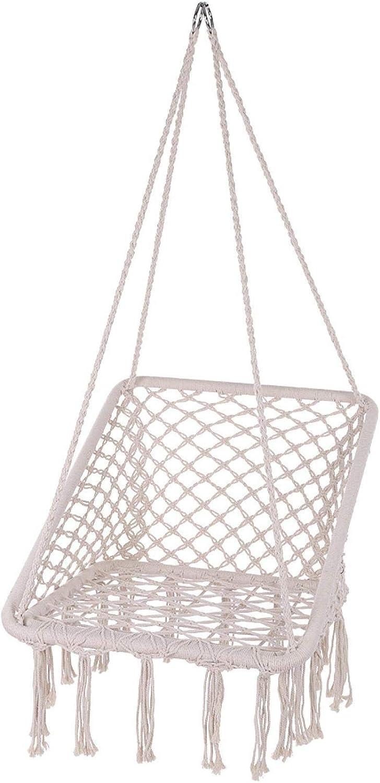 Cheap mail order New item shopping Hammock Chair Macrame Swing Ergonomic Design Hanging Cha Square
