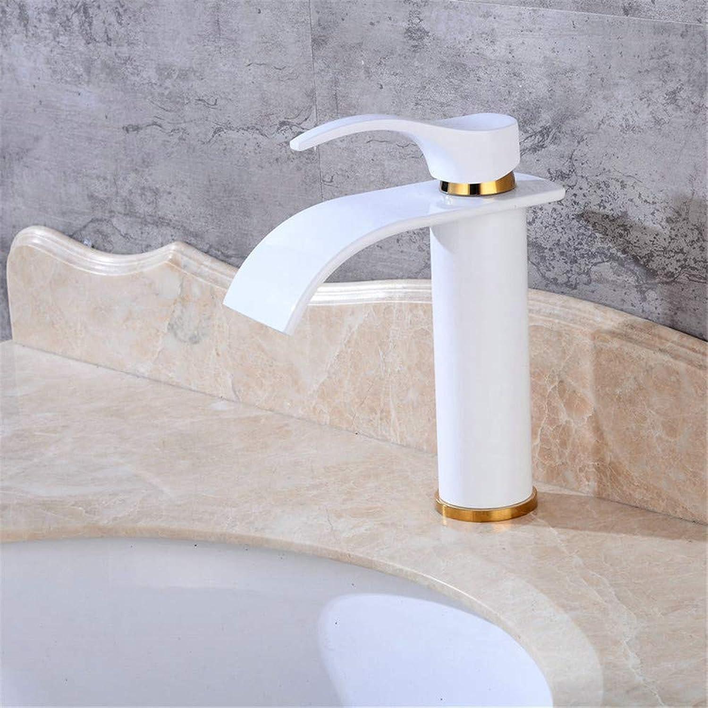 Decorry Antik Schwarz Wasserfall Heies Und Kaltes Wasser Waschbecken Wasserhahn Einhand-Waschtischarmaturen Heightening Unverbleites