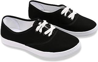ERLINGO Chaussures en toile pour femme - Légères et confortables - Chaussures de marche plates et respirantes - Chaussures...