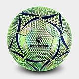 QIXIAOCYB Baloncesto en Balón de Fútbol Oscuro Fútbol Fútbol Práctica Estándar Fútbol Luminar Lumin Resplandor Bolas de Fútbol PU Reflejo
