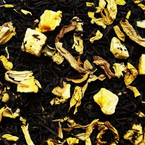 Schwarzer Tee lose Quitten Traum Pfirsich, Sonnenblumen, Feigen Schwarztee 250g