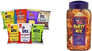 Utz Jumbo Snack Variety Pack (Pack of 60) Individual Snack Bags, Includes Potato Chips, Cheese Curls & Party Mix - 26 Ounc...