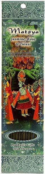 Incense Sticks Matsya Jasmine Rose And Tulasi