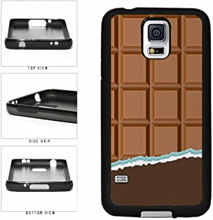 Yummy Unwrapped Chocolate Bar TPU RUBBER Phone Case Back Cover Samsung Galaxy S5 I9600 includes BleuReign(TM) Cloth and Warranty Label