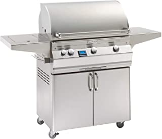 Fire Magic Aurora Series 30-Inch Grill on Cart with Single Side Burner (A540s-5E1P-62), Digital Thermometer, Propane