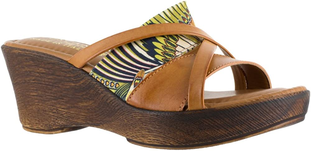 Easy Street Womens Lucette Open Toe Casual Slide Sandals, Multicolor, Size 8.0