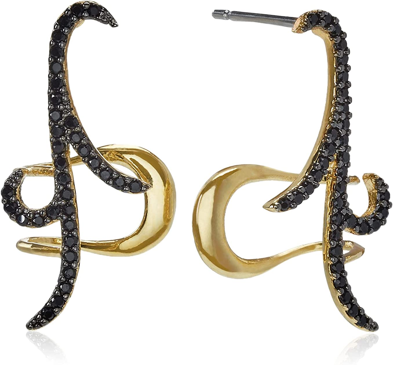 nOir Max 73% OFF Jewelry Pave Black Cubic Ear supreme Cuffs Zirconia