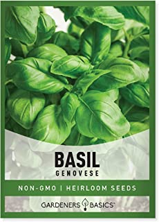 Genovese Basil Seeds for Planting Heirloom Non-GMO Herb Plant Seeds for Home Herb Garden Makes a Great Gift for Gardening ...