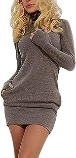 4eecb62113b4 Donna Vestiti De Giorno Corti Elegante Vestitini Fascianti Autunno Inverno  Giovane Grazioso Ragazza Vestito Manica Lunga