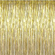 Party DIY Decorations Gold Foil Fringe Curtain 12M Door Curtains Tinsel Shining Party Wedding Birthday Marriage Gathering Decoration HG0198