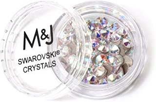 Swarovski Crystals Flat Back Rhinestones - 2088 Xirius Rose Round Foil Backed - SS16 (3.8mm-4mm) - Crystal AB 001 AB (Iridescent)