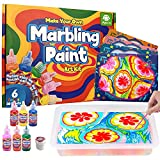 MOFGDNI Arts and Crafts for Kids Ages 6-12 Water Marbling Paint for Kids Arts Supplies Activities Crafts Kits for Girls & Boys Ages 6-8 Ideal Gifts for Kids Age 4 5 6 7 8-12