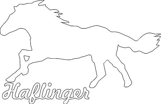 2x Auto Aufkleber Haflinger Pferd 2x Car Sticker Konturgeschnitten Ca 11x7 Cm Weiss Auto