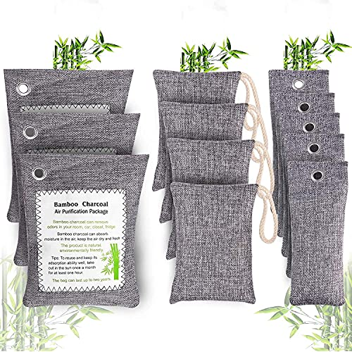 Bamboo Charcoal Air Purifying Bags 12 Pack