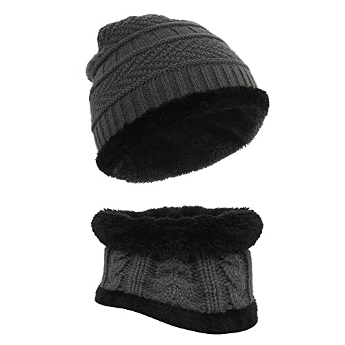 dbe66e4c68f86 Kids Hat and Scarf Set, Galopar Children Knitted Beanie Hat and Circle  Scarf for Boys
