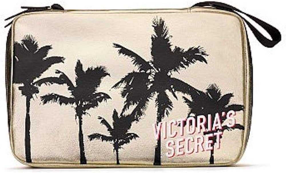 Victoria's Secret Ranking TOP2 Make Up travel bag Limited time for free shipping Gold black Palm